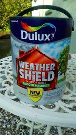Brand New Unopened Weathershield Green Ivy Matt Masonary Paint