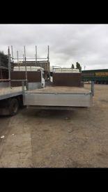 MAN 7.5 ton flat bed scaffold lorry