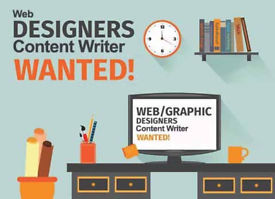 Web Designer/Content Writer/Graphic Person Wanted!!