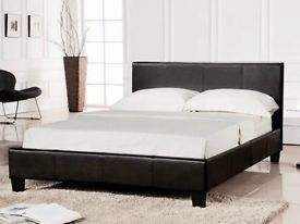 BZAMS 4ft6 Double or 5ft King Prado Black Bed With Or Without Mattress