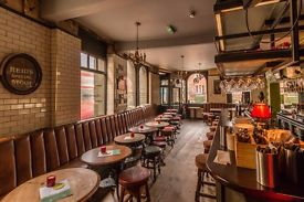 HELLO! Experienced waiter/barman combo wanted for 23 tap pub in Notting Hill. £9.50 per hour,