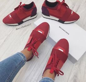 AUTHENTIC RED BALENCIAGAS