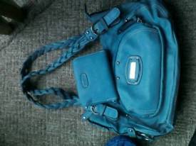 *** STUNNING TURQUOISE HANDBAG&PURSE SET---FROM USA
