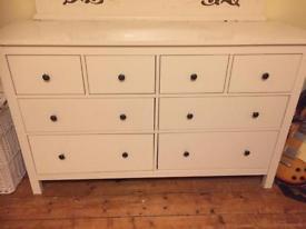 Ikea large Hemnes set of drawers. Needs a little bit of TLC